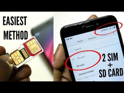 Dual Sim & micro sd Card in Xiaomi Redmi 4 hindi