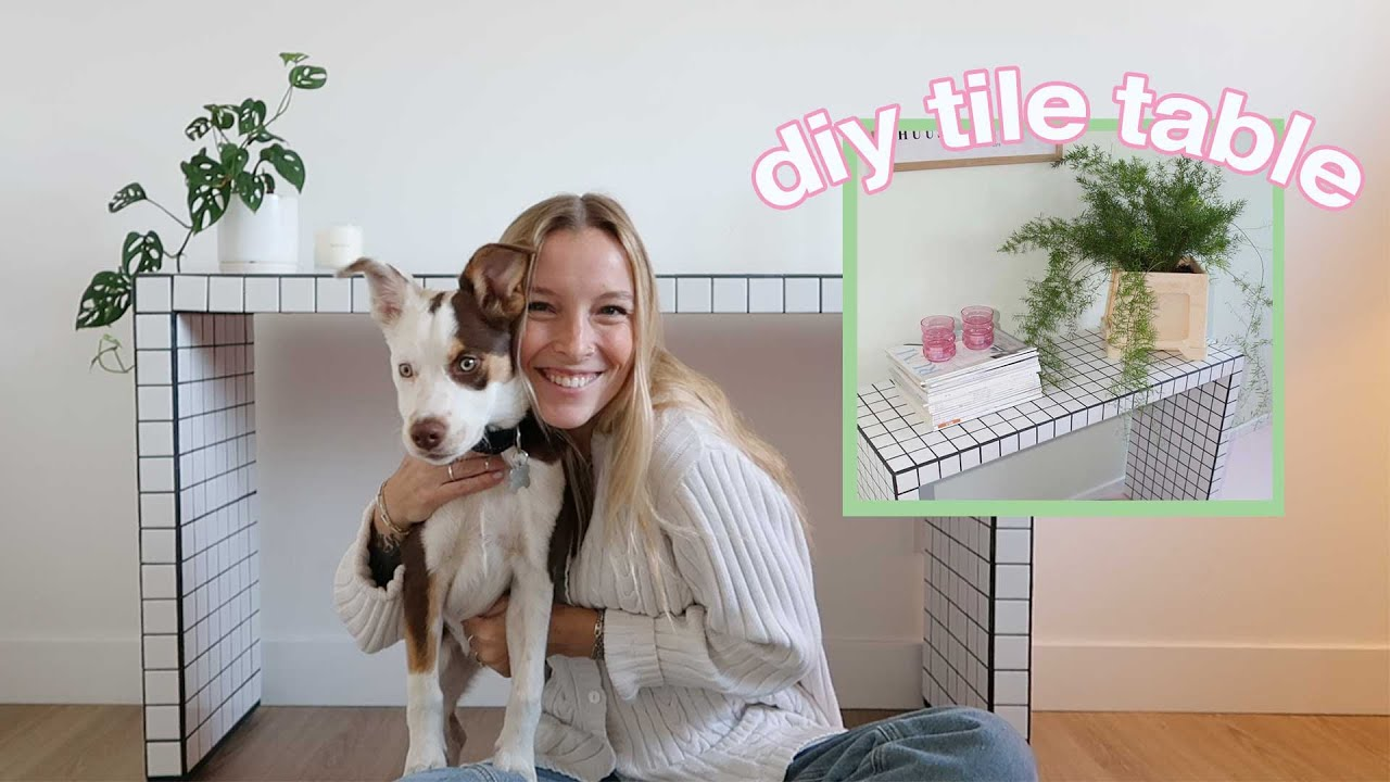 how to diy a tile table! (step by step tutorial)
