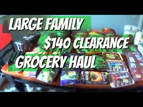 $140 Clearance Grocery Haul!!  Sam's Club and Smith's