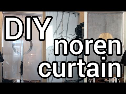 How to Make Easy Noren Curtains : DIY