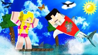 Minecraft RAFT - I AM SHARK?! (Raft Multiplayer)