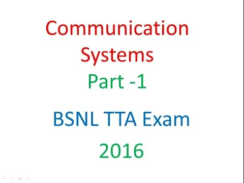Communication Systems Part 1