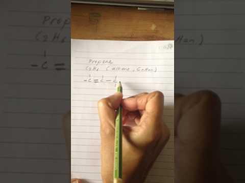 Molecular Formula and Structural Formula of propene