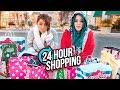 24 HOUR Shopping Challenge Niki And Gabi