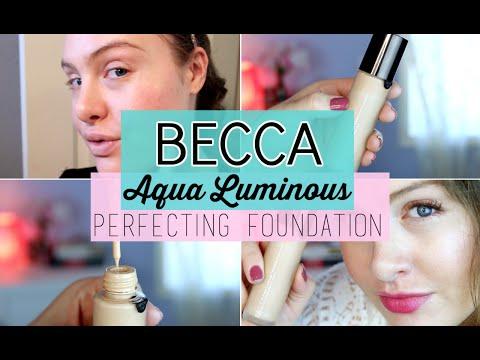 BECCA Aqua Luminous Perfecting Foundation DEMO + REVIEW