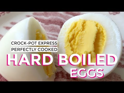 Perfectly Cooked Hard Boiled Eggs in the Crock Pot Express Multi Cooker