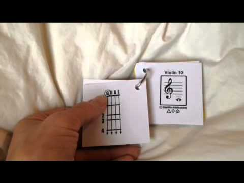 Notes and Fingerings with Violin & Viola Flashcards