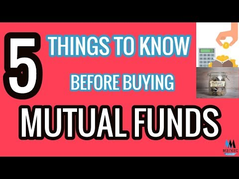 Things to Know before buying Mutual Funds