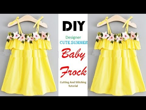 DIY Cute Summer Baby Frock Cutting And Stitching Tutorial