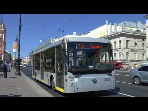 TROLLEYS AND BUSES ST PETERSBURG MAY 2018
