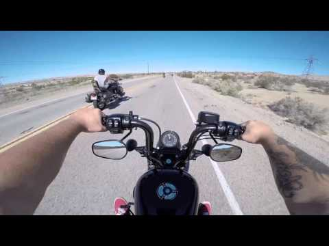 Route 66 Ride (Victorville to Barstow) Harley 48 go pro