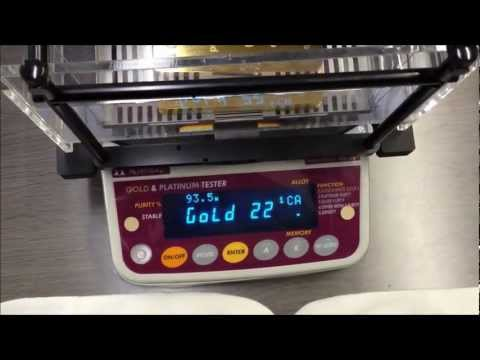 Fake 24K Gold ingot made by Tungsten measured with GKS-3000