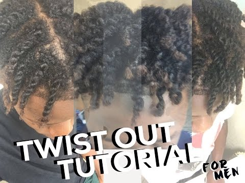 4C MEN'S NATURAL CURLY HAIR / TWISTOUT TUTORIAL