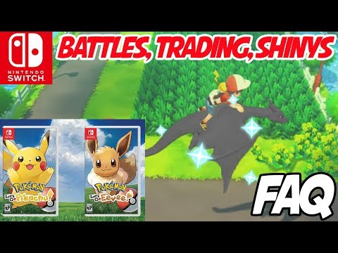 Pokemon: Let's Go Pikachu! & Eevee FAQ - Trading, Battles, Shiny Pokemon and More!