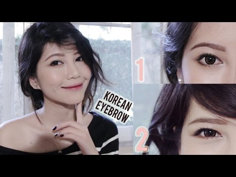 ⟡Natural Korean Straight & lifted Eyebrows Tutorial ⟡✰❤︎