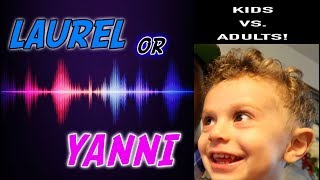 Does Age Matter? Yanny and Laurel Science Experiment! 2 Year Old Vs. Adults
