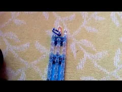 How to make a hair bow on rainbow loom!!  New!!