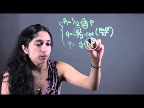 How to Find the Number of Sides of a Regular Polygon Knowing the Area... : Math Tips & Calculations