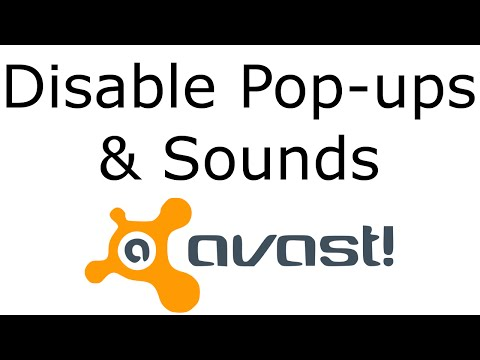 Disable Sounds/Pop-ups in Avast