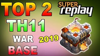 UNBEATABLE Best Th10 War Base 2018 Vs Anti 3 Star With