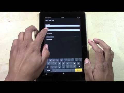 Kindle Fire HDX (8.9) - How to Add an Email Account (Gmail, AOL, Yahoo etc) | H2TechVideos