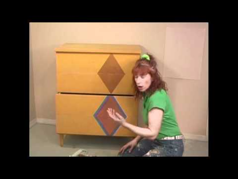 How to paint old furniture with metallic paint