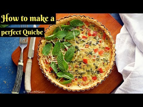 Quiche Lorraine | How to make a Onion and Pepper Quiche | How to avoid shrinkage of pastry