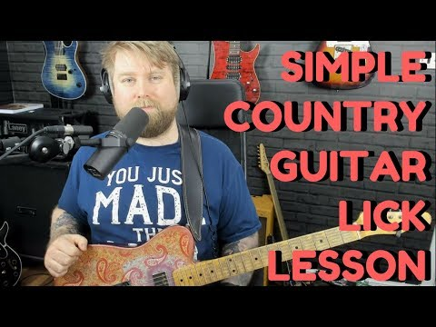Easy Country Guitar Licks - Learn Country Guitar Lesson