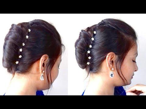 Quick French Bun/French Roll/French Twist In Hindi|Ramzan Eid Special Hairstyle| AlwaysPrettyUseful