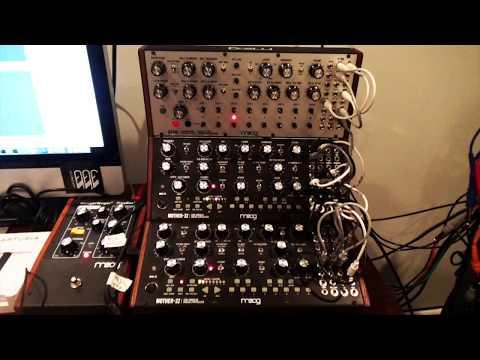 Moog Music DFAM + Mother 32 x2 + Mooger Foogers = Multiple Voice Mother 32 & Talking Moogs HQ AUDIO