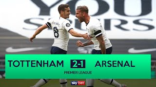 LIVE Tottenham 2 1 Arsenal Spurs Leapfrog Gunners With North London Derby Win