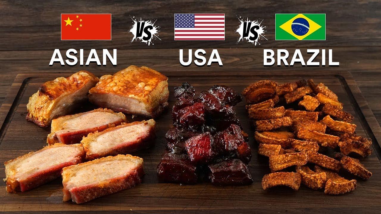 Pork BELLY 3 WAYS - Asian, USA & Brazilian! Which is BEST?