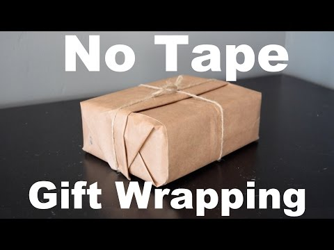 No Tape Gift Wrap : Christmas Gift Wrapping For Guys!