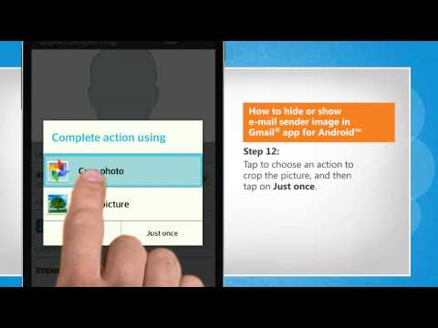How to hide or show e-mail sender image in Gmail® app for Android™ on LG L9