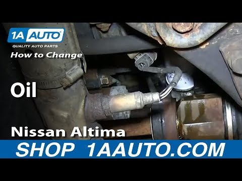 How To Do An Oil Change Nissan Altima 1998-01
