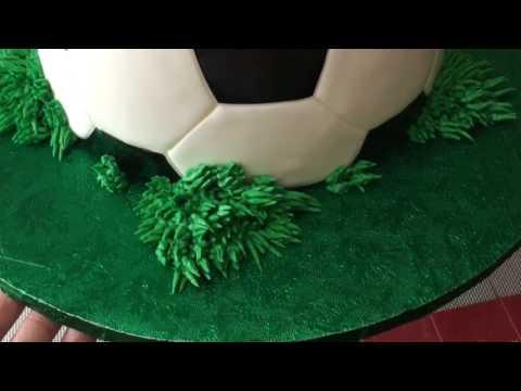 Soccer ball cake tutorial - August 02, 2017