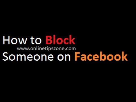 How to BLOCK someone on Facebook without knowing to them