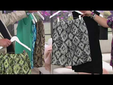 Denim & Co. French Terry Ikat Print Pull-on Shorts with Pockets on QVC