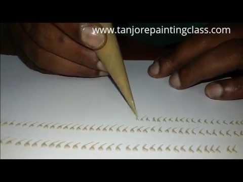 Tanjore paintings | DIY | Lesson 5 -  how to make tanjore paintings designs - Karukku