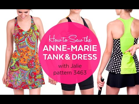 How to Sew the ANNE-MARIE Dress (Jalie pattern 3463)