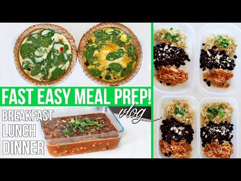 MEAL PREP WITH ME! Easy Healthy Meal Prep Ideas!