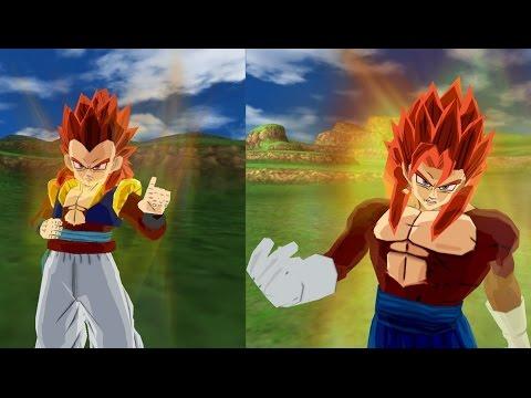 Gotenks SSJ4 Fusion VS Vegeto Super Saiyan 4 Fusion (Dragon