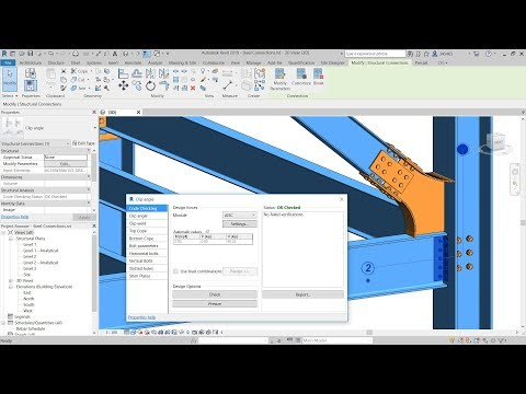 Steel Connection Code Checking in Revit 2019