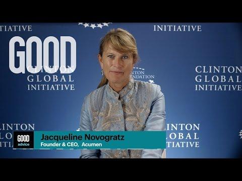 GOOD Advice from Jacqueline Novogratz