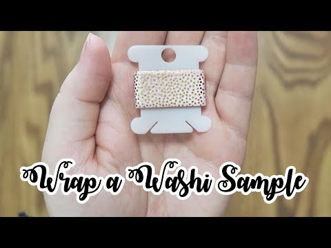How to Wrap a Washi Tape Sample