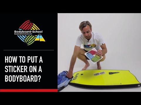 How To Put A Sticker On A Bodyboard? - Bodyboard-School