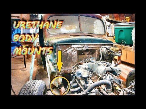 Updating your classic car's old body mounts to modern Urethane (PART 26) 1947 ford pickup build