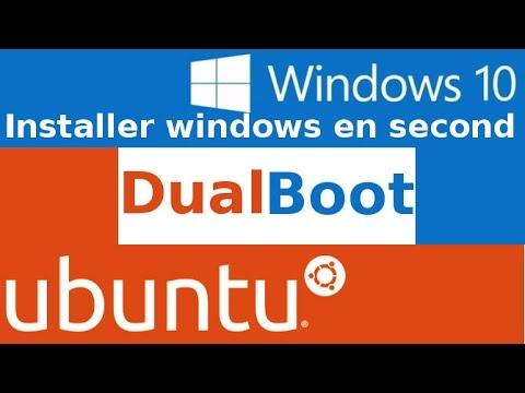DualBoot installer windows 10 après Ubuntu