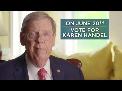 Johnny Isakson: I'm Voting for Karen Handel