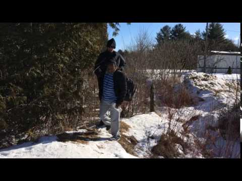 Asylum seeker on Quebec border with the United States